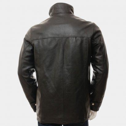 Men's Black Leather Jacket Fashion Coats Free Shipping