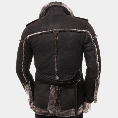 Men's Black Shearling Coat Fashion Coats Free Shipping