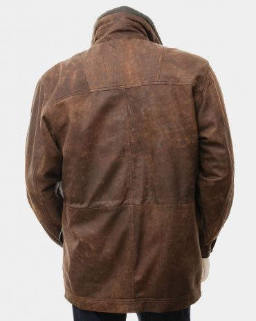 Men's Brown Leather Coat Fashion Coats Free Shipping