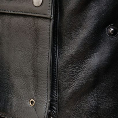 Men's Leather Coat in Black Fashion Coats Free Shipping
