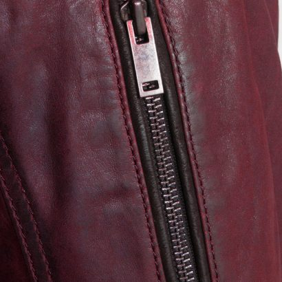 Mac Brown Leather Men Jacket With Embroidery Fashion Collection Free Shipping