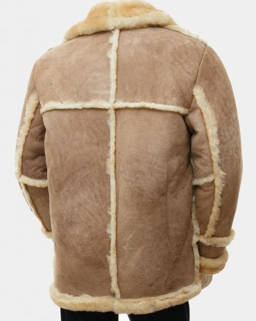 Mens Brown Leather Mens Jacket With Wool Fashion Collection Free Shipping