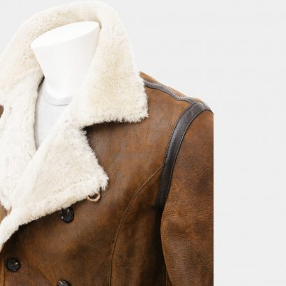Brown Leather Jackets Men With Wool Mr Styles Fashion Collection Free Shipping