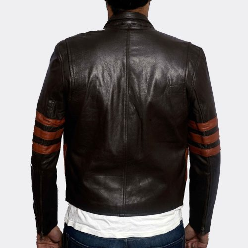 Men's Brown Fashion Genuine Leather Jacket Fashion Collection Free Shipping