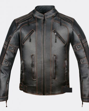 Mercury Highly Vented Men's Motorcycle Leather Jacket with Armor Cow Hide Motorbike Jackets Free Shipping