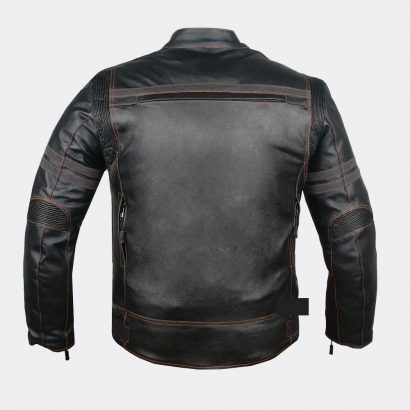 Mercury Highly Vented Men's Motorcycle Leather Jacket with Armor Cow Hide Motorcycle Collection Free Shipping
