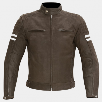 Hixon Men Motorcycle Leather Jacket Motorcycle Collection Free Shipping