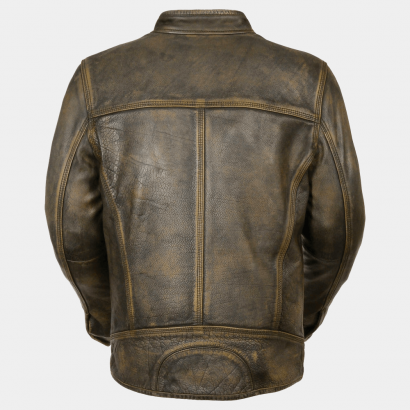 Distressed Scooted Men's Motorcycle Leather Jackets Motorcycle Collection Free Shipping