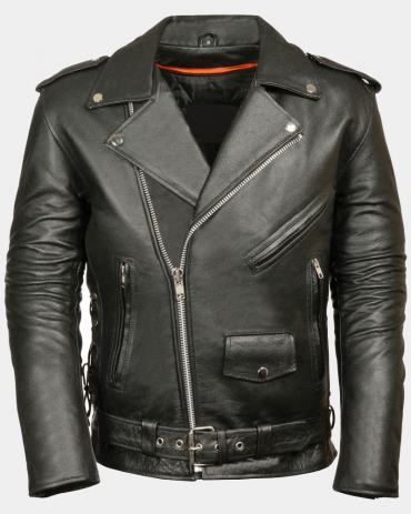 Police Style Mens Motorcycle Leather Jackets Motorbike Jackets Free Shipping