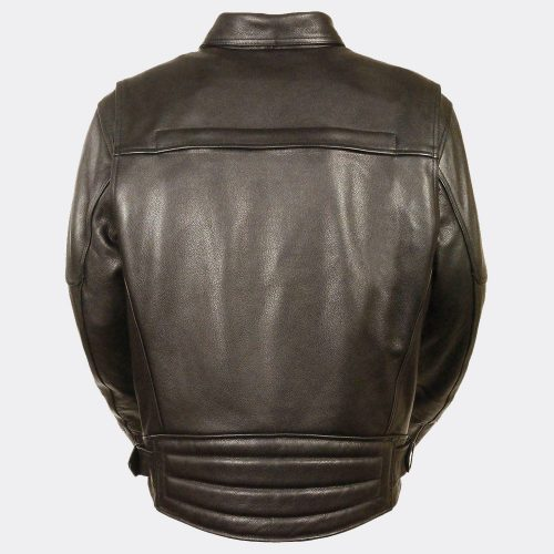 Motorcycle Leather Men's Side Belt Utility Pocket Motorcycle Jacket Motorbike Jackets Free Shipping