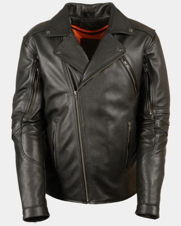Triple Stitch Mens Motorcycle Leather Jackets Motorbike Jackets Free Shipping