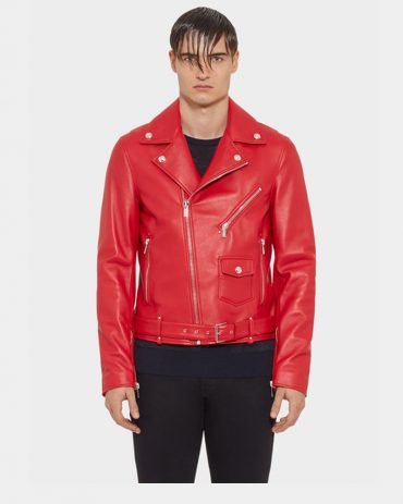Nappa Leather Bike Jacket-Versace Replica MotoGP Leather Jackets Free Shipping