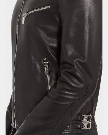 Nappa Leather Biker Jacket-Versace A+ Replica MotoGP Leather Jackets Free Shipping
