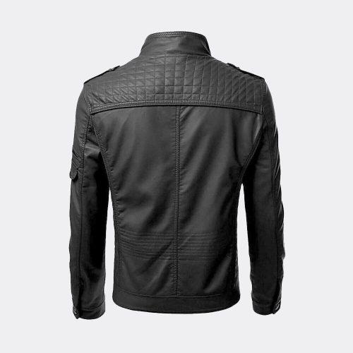 New Men Genuine Lambskin Leather Jacket Black Slim Fit Biker Motorcycle Jacket Motorcycle Collection Free Shipping