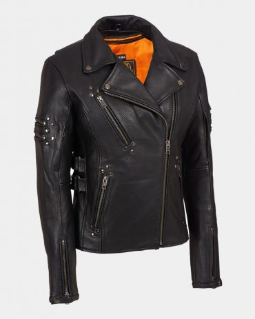 Nappa Leather Biker Jacket-Versace A+ Replica Motorbike Collection Free Shipping