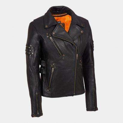 Leather Biker Jacket MotoGP Leather Jackets Free Shipping