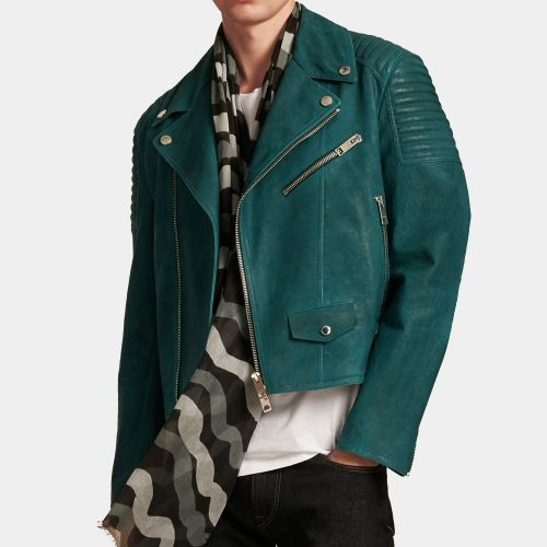 Quilted Detail Lambskin Leather Biker Jacket – Burberry A+ Replica MotoGP Leather Jackets Free Shipping
