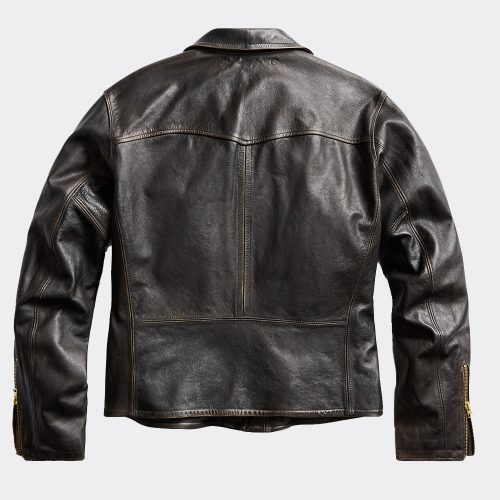 Rrl Double Rl Ralph Lauren Limited Edition Leather Motorcycle Jacket Motorbike Jackets Free Shipping