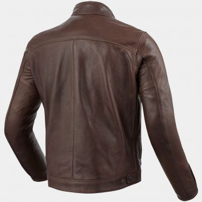 Brown Leather Bomber Motorcycle Jacket MotoGP Leather Jackets Free Shipping