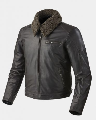 Black Shearling Leather Motorbike Jacket Motorbike Jackets Free Shipping