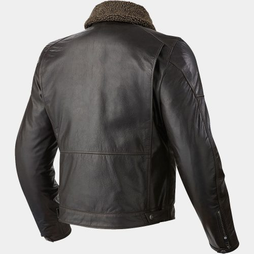 Black Shearling Leather Motorbike Jacket Motorbike Collection Free Shipping