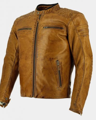 Brown Leather Motorcycle Jacket Motorbike Jackets Free Shipping