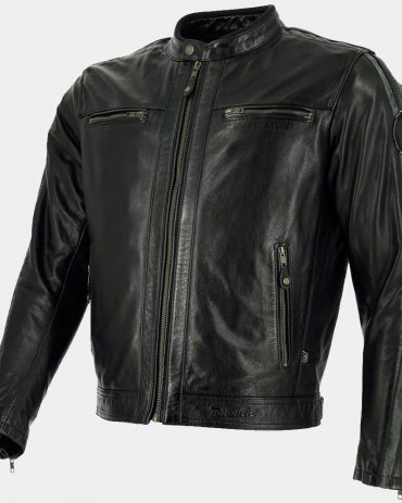 Black Leather Bomber Motorcycle Jacket MotoGP Leather Jackets Free Shipping