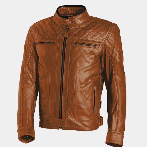 Brown Stylish Leather Motorcycle Jacket MotoGP Leather Jackets Free Shipping