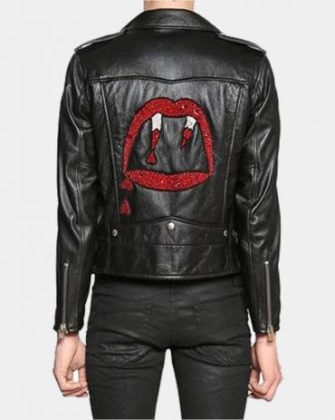 Black Leather Biker Mens Leather Winter Jacket Fashion Collection Free Shipping