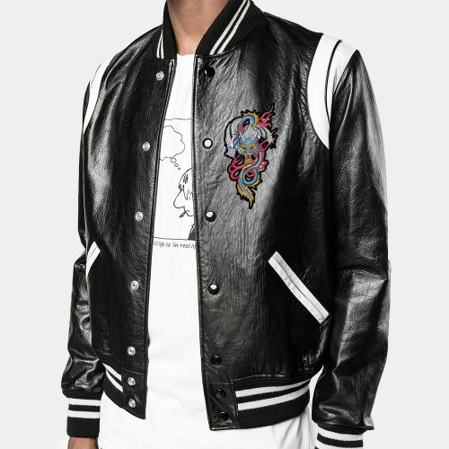 Saint Laurent Leather Varsity Jacket – A+ Replica Fashion Collection Free Shipping