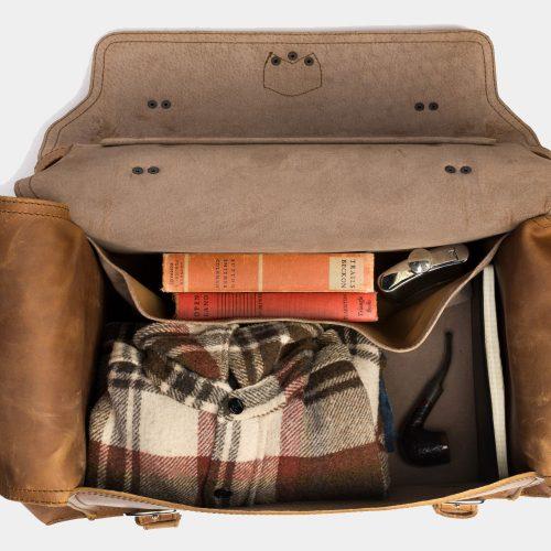 saddlebackleather Side Pocket Leather Duffel Bag Bags Free Shipping