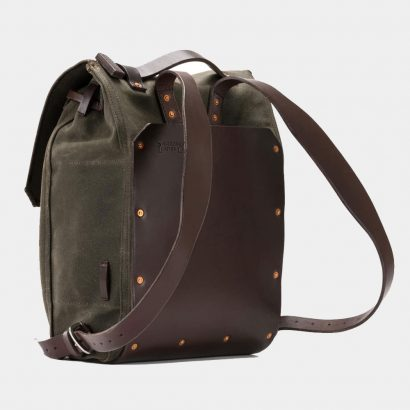Saddlebackleather Simple-Waxed-Canvas-Backpack Bags Free Shipping