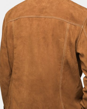 Mr-Styles Suede Western Men Leather Jacket Brown Fashion Collection Free Shipping