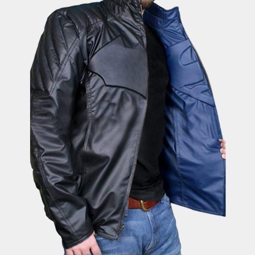 Superman vs Batman Dawn of Justice Reversible Jacket Superhero Leather Jackets Free Shipping