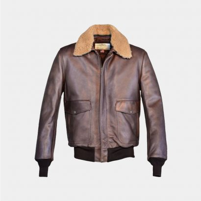 Schott Nyc Leather Bomber Jacket Fashion Collection Free Shipping