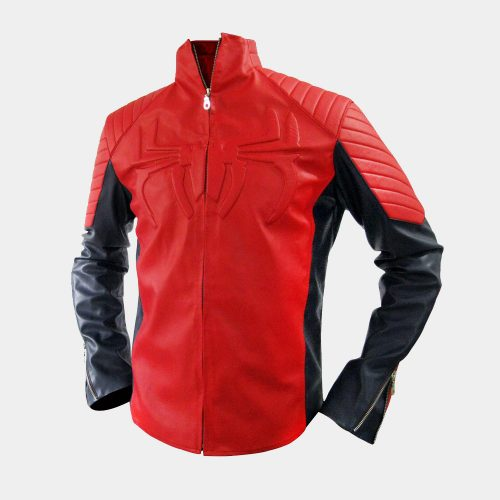 Spiderman Leather Jacket Celebrities Leather Jackets Free Shipping