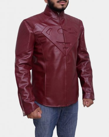 Superman Smallville Red Jacket Fashion Collection Free Shipping