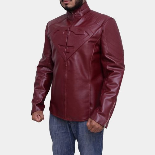 Superman Smallville Red Jacket Celebrities Leather Jackets Free Shipping