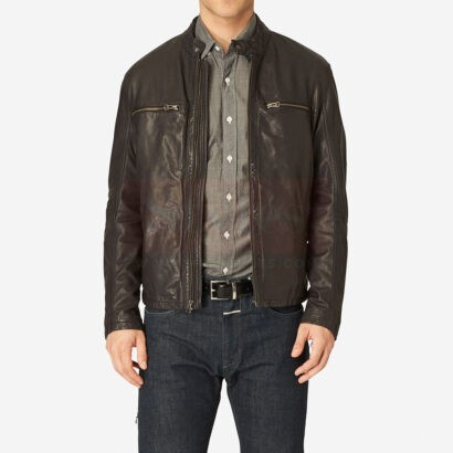 Cole Haan Vintage Leather Jacket Fashion Collection Free Shipping