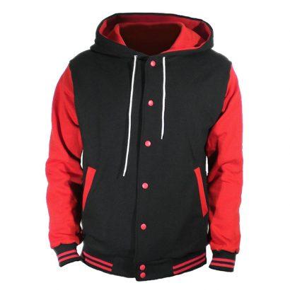 U World Men's Hood Baseball Varsity Jacket Fashion Collection Free Shipping