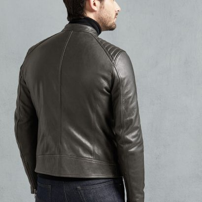 Fashion Vintage Pewter Leather Jackets Men Fashion Collection Free Shipping