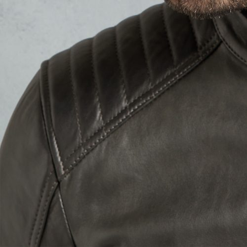 Fashion Vintage Pewter Leather Jackets Men Fashion Jackets Free Shipping