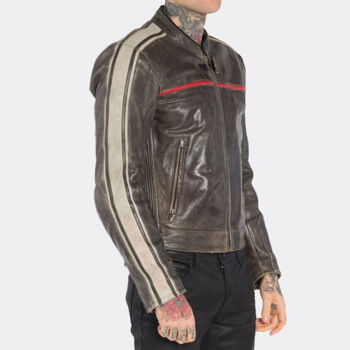 Harley Davidson Mens Vintage Brown Leather Jackets Motorcycle Collection Free Shipping