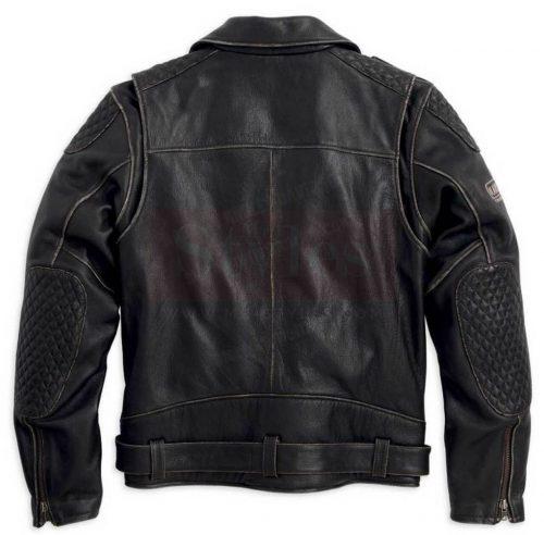 Vintage Leather Biker Jacket Harley Davidson Motorcycle Collection Free Shipping