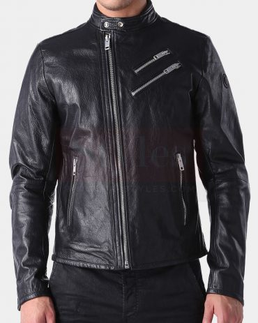 Diesel L-Oyton Leather Winter Jacket Fashion Collection Free Shipping