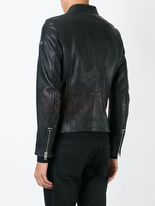 Real Black Guys Leather Jackets Diesel L-Roshi Jacket Fashion Collection Free Shipping