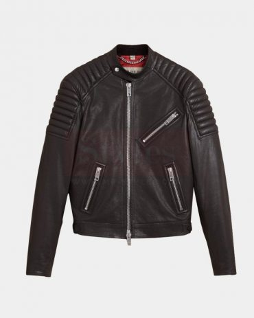 Burberry Panel Detail Lambskin Men's Leather Jackets On Sale Fashion Collection Free Shipping