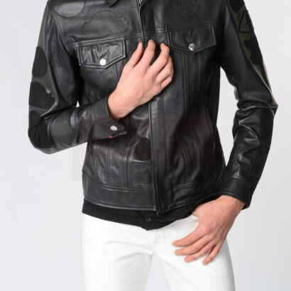 Buy Jacket Diesel L-Jimmy-Patch Leather Jackets Fashion Collection Free Shipping
