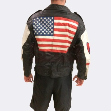 Vintage Usa American Motorcycle Leather Biker Jacket Motorcycle Collection Free Shipping