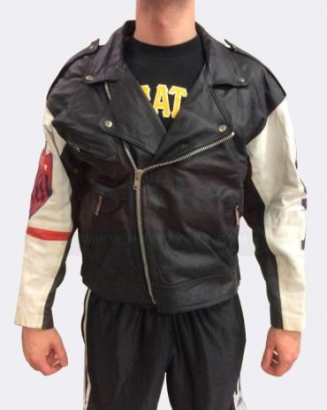 Vintage Usa American Motorcycle Leather Biker Jacket Motorbike Jackets Free Shipping